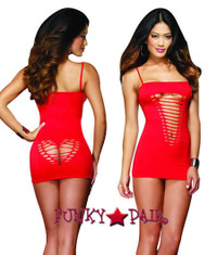 DG-8650, Heart Back Mini Dress