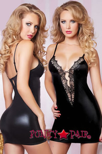 STM-9839, Leather and Lace Dress
