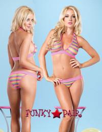 LA81445, Rainbow Bikini Net Set