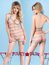 LA8714, Rainbow Net Dress