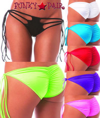 1185SL, Triple Tie Side Scrunch Panty