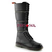 DISORDER-418, Knee High Combat Demonia Punk  Boots