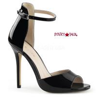 Amuse-14, 5 Inch Stiletto Heel Close Back Ankle Strap