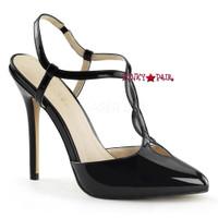 Amuse-16, 5 Inch Heel T-Strap Slingback Sandal
