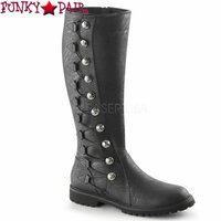 Gotham109, Men's Knee High Button Lace Up Boots