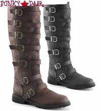 Gotham-110, Men's Multi Buckle Straps Knee High Boots