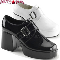 Jazz-03, 3.5 Inch Men's Loafter with Strap