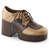 Jazz-06, 3.5 Inch Block Heel Men's Spectator Oxford Shoes