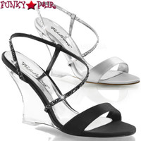 Lovely-417, 4 Inch Wedge Slingback Sandal Made By PLEASER Shoes
