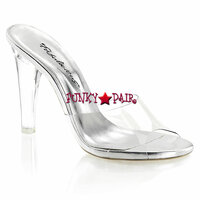 Clearly-401, 4.5 Inch Clear Slide Made By PLEASER Shoes