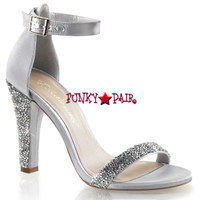 Clearly-436, 4.5 Inch Heel Closed Back Sandal Made By PLEASER Shoes