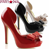 Lumina-32, 4.75 inch D'orsay Peep Toe Pump  Made By PLEASER Shoes