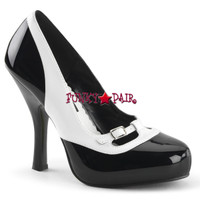 Cutiepie-13, 4.5 Inch Spectator Maryjane Pump Made By PLEASER Shoes