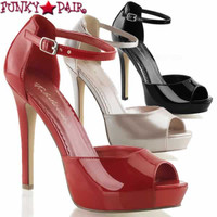 Lumina-42, 4.75 inch Heel Peep Toe Close Back D'orsay Pump  Made By PLEASER Shoes