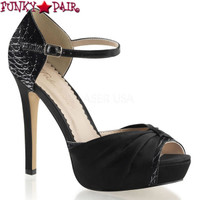 Lumina-48, 4.75 Inch Heel D'orsay Pump Peep Toe  Made By PLEASER Shoes