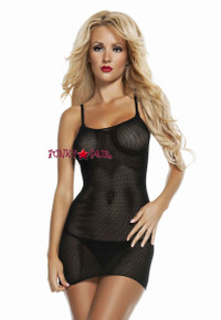 RL4504, Slip Fishnet Mini Dress  *COMING SOON SEPT*