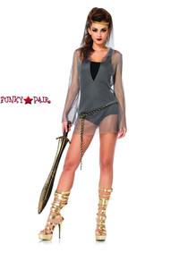 LA-2701, Chain Mail Hooded Dress