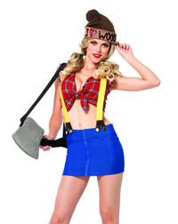 LA-85250, Lumber Jackie Girl Costume
