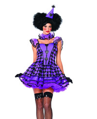 LA-85354, Pretty Parisian Clown Costume