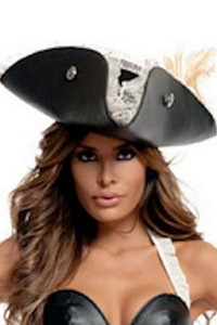SA2905, Black Pearl Pirate Hat