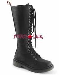 Rival-400, Woman Vegan Combat Women Punk boots Mady By Demonia