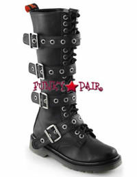 Rival-404, Woman Buckles Combat Women Punk boots Mady By Demonia