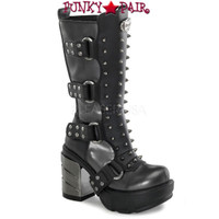 SINISTER-202, 3.5 Inch Spike and Studs Gothic Calf Women Punk boots Mady By Demonia