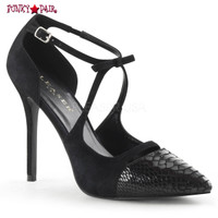 Amuse-38SN, 5 Inch D'Orsay Pump with Snake Print (Amuse-38SN)