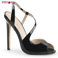 Sexy-10, 5 Inch, Stiletto Heel, Sling back Asymetric Strappy Sandal