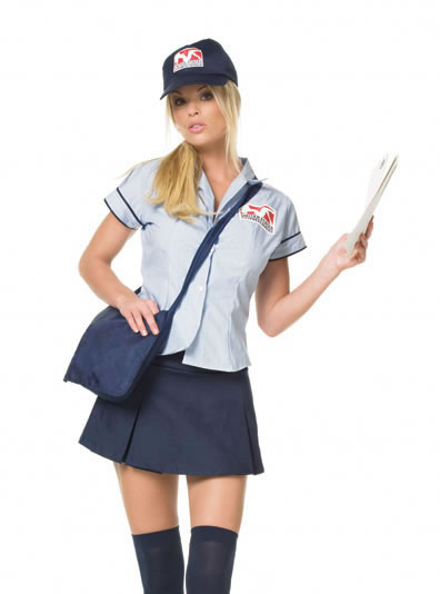 Mail delivery girl costume funkypair mail delivery girl costume sciox Choice Image