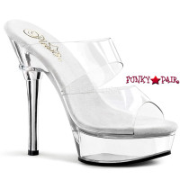 ALLURE-602, 5.5 inch high heel with 1.5 inch platform Clear Exotic Dancer Shoes