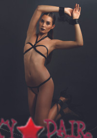 KI4008, Open Cup Bra and Crotchless Thong