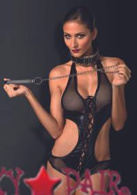 KI2003, Bondage Collar with Leopard Print