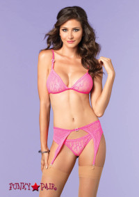 81483, Leopard Lace Top, Garterbelt and Panty