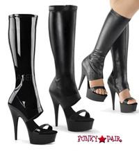 Delight-600-47, 6 Inch Knee High Sandal