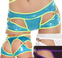 SH3185-Cut out Thong Shorts