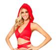 Red T3054 - Solid Hood Halter Wrap Top
