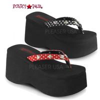 Funn-26, Polka Dot strap thong sandal