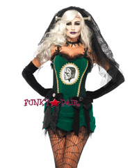 4PC Deluxe Bride of Frankenstein Costume