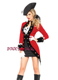4PC Rebel Red Coat Costume