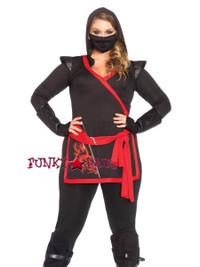 LA85422X, 4PC Ninja Assassin Costume