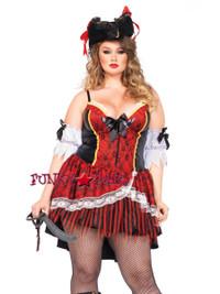 LA85482X, 2PC Curry Pirate Costume