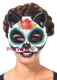 LA3735, Sugar Skull Cat Mask