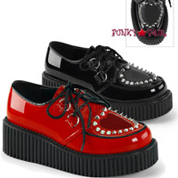 Creeper-108, 2 inch Platform creeper with heart Design