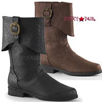 Carribean-199, 1.5 Inch Heel Cuff Ankle Boots