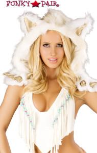 CS221,White Indian Claw Hood