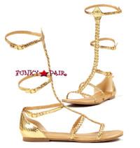 015-CAIRO, Gold Gladiator Fla,COSTUME SHOES