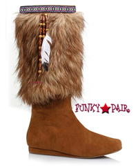 103-JASMIN, Indian Boots with faux fur,COSTUME BOOTS