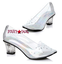 213-Anastasia, 2 Inch Clear Slipper,COSTUME SHOES