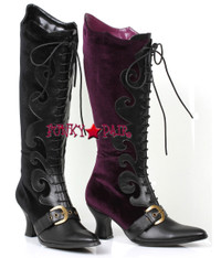 253-Fain, 2.5 inch heel knee high boots,COSTUME BOOTS